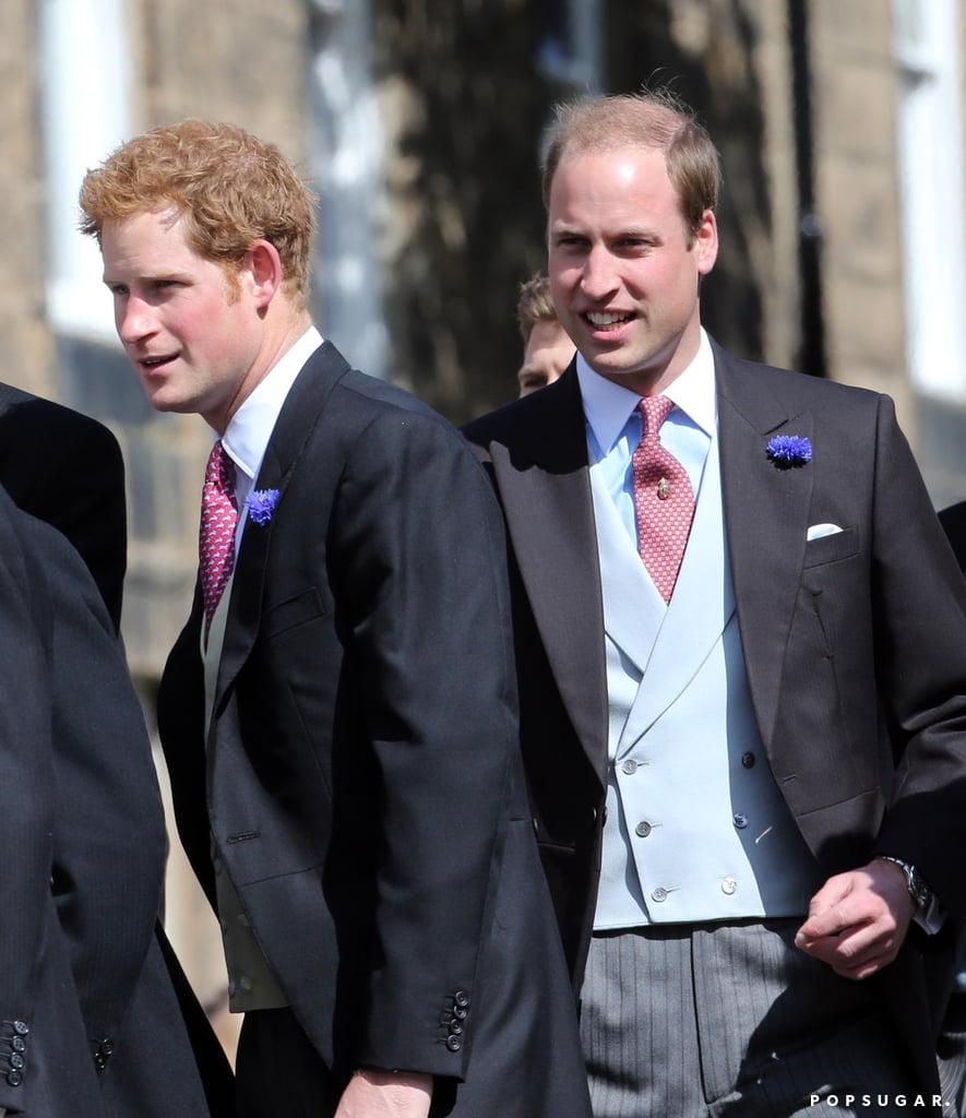 Princes William and Harry arrived for the festivities.