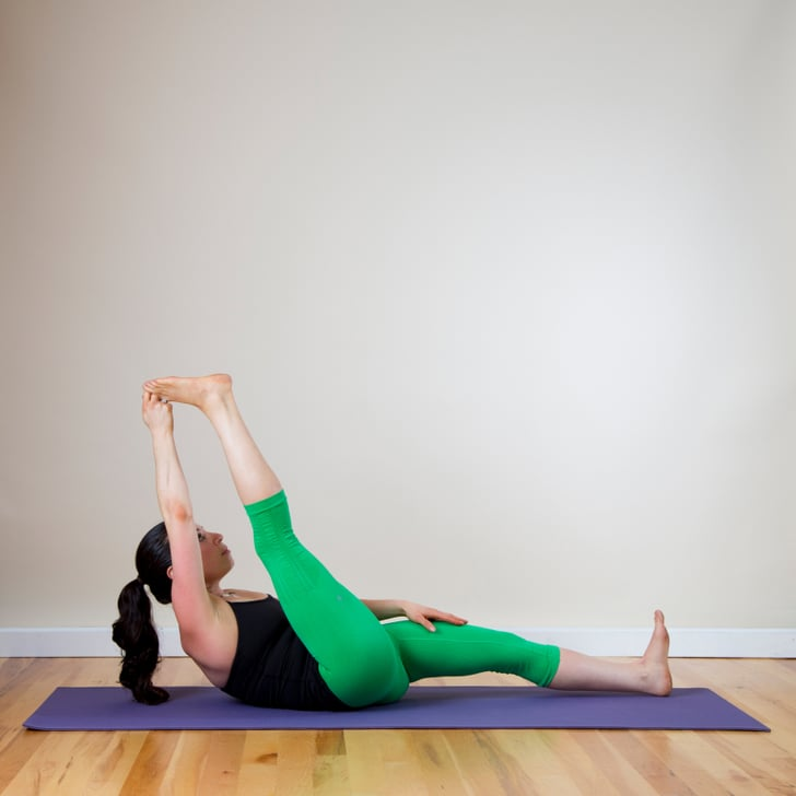 Reclined Hand To Big Toe How To Touch Your Toes Popsugar Fitness Photo 6