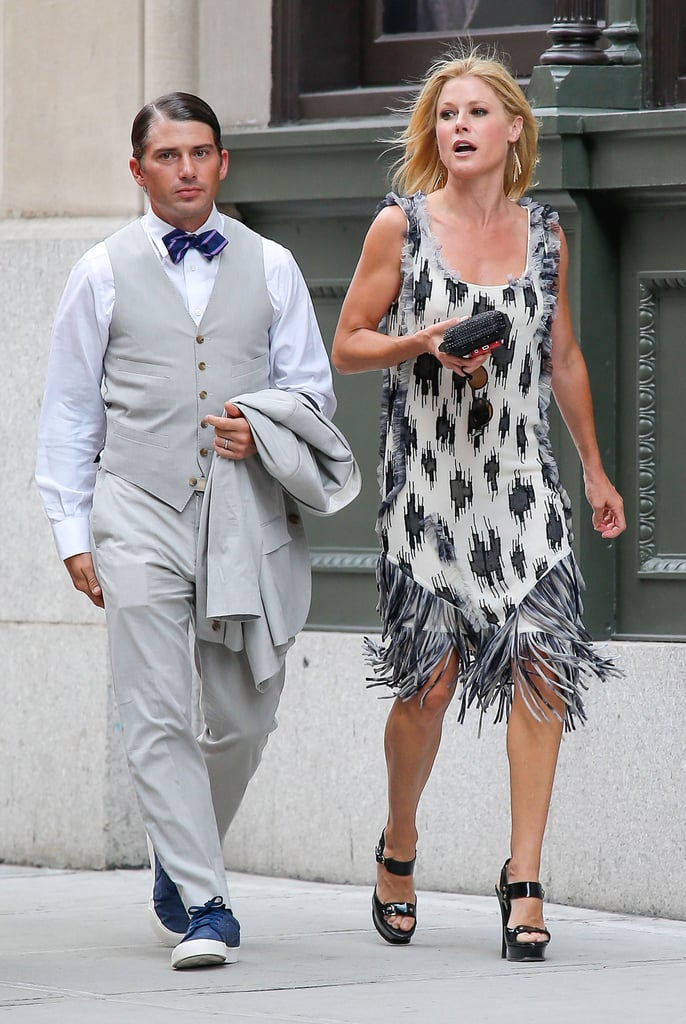 Julie Bowen and Scott Phillips arrived together for Jesse Tyler Ferguson's NYC wedding in the Summer of 2013.