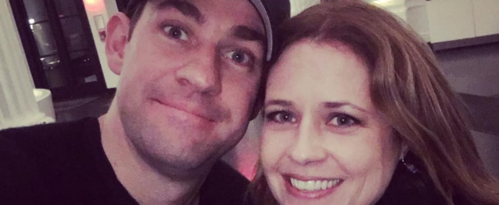 The Office's John Krasinski and Jenna Fischer Have a Sweet Reunion in NYC