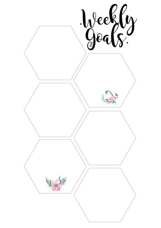 Download: Pretty Peony Weekly Goals