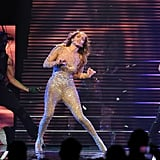 Jennifer Lopez showed off her signature dance moves.