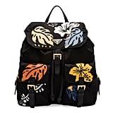 Prada Hawaiian Double-Pocket Backpack, Black (Nero) ($1,660)