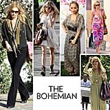 You're the breezy boho babe of your group. You're drawn to tribal-inspired prints, eclectic jewels, and easy shapes like maxi skirts and dresses. Glitz and glitter typically aren't your thing, much as they aren't for style icons Sienna Miller and Nicole Richie, but lines like Isabel Marant, Vanessa Bruno, Emilio Pucci, and Anna Sui have your name written all over them. Your Summer uniform might just be a flowy maxi dress and a perfect pair of strappy flat sandals — with that essential straw fedora, of course.   Icons: Sienna, Nicole, and Kate Hudson zero in on that effortlessly cool, easy glam aesthetic you've loved since you first fell for the look on Ali MacGraw in Love Story or lusted after perusing your mother's '70s wardrobe.  Key Pieces: A printed maxi dress, denim bell-bottoms, a pendant necklace, and oversize shades.  Hot Spots: Anna Sui, Isabel Marant, Winter Kate. In this photo (clockwise from left): Kate Bosworth, Sienna Miller, Nicole Richie, Kate Hudson, Rachel Zoe