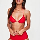 Missguided Red Moulded Triangle Bikini Top