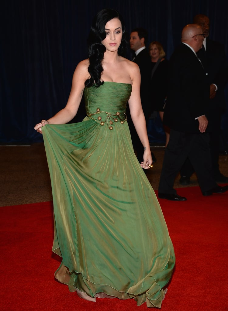 Katy Perry Goes Green For the White House Correspondents' Dinner