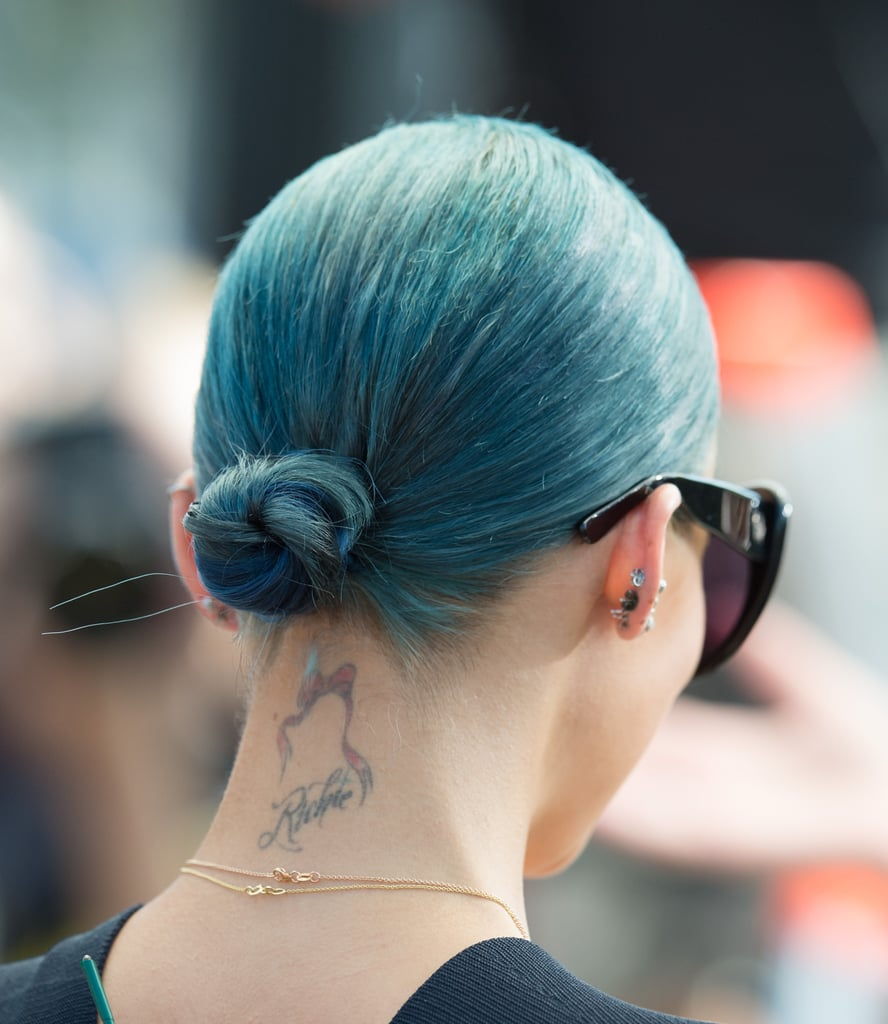 Nicole is another star with a bow on the back of her neck — was this an early 2000s trend we totally missed? She paired the pink tattoo with her last name in script.