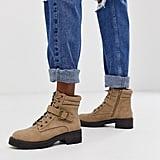 New Look Flat Hiker Boots