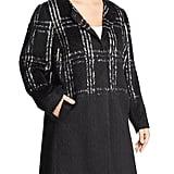 Eileen Fisher Plaid Color-Block Coat Women