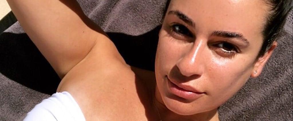 Lea Michele White Bikini 2018