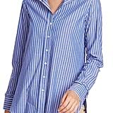 Court & Rowe Ruffle Cuff Stripe Shirt