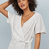 H&M Short-Sleeved Wrapover Blouse