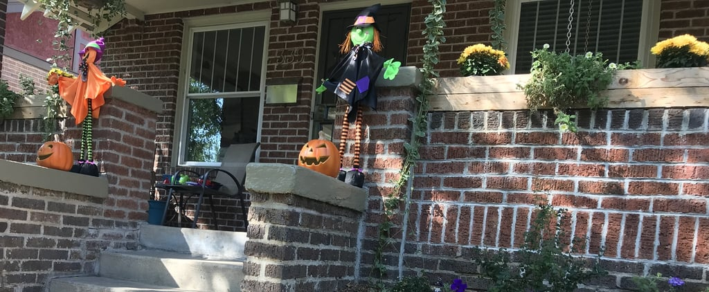 Candy Sticking Yard Idea Instead of Trick or Treating
