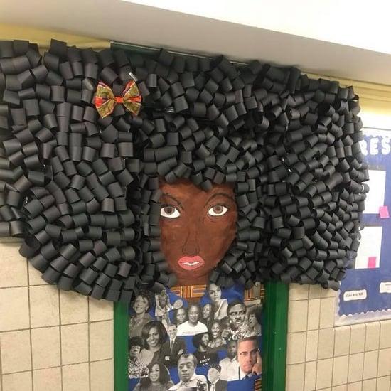 NYC Teacher Makes Hair Mural For Black History Month