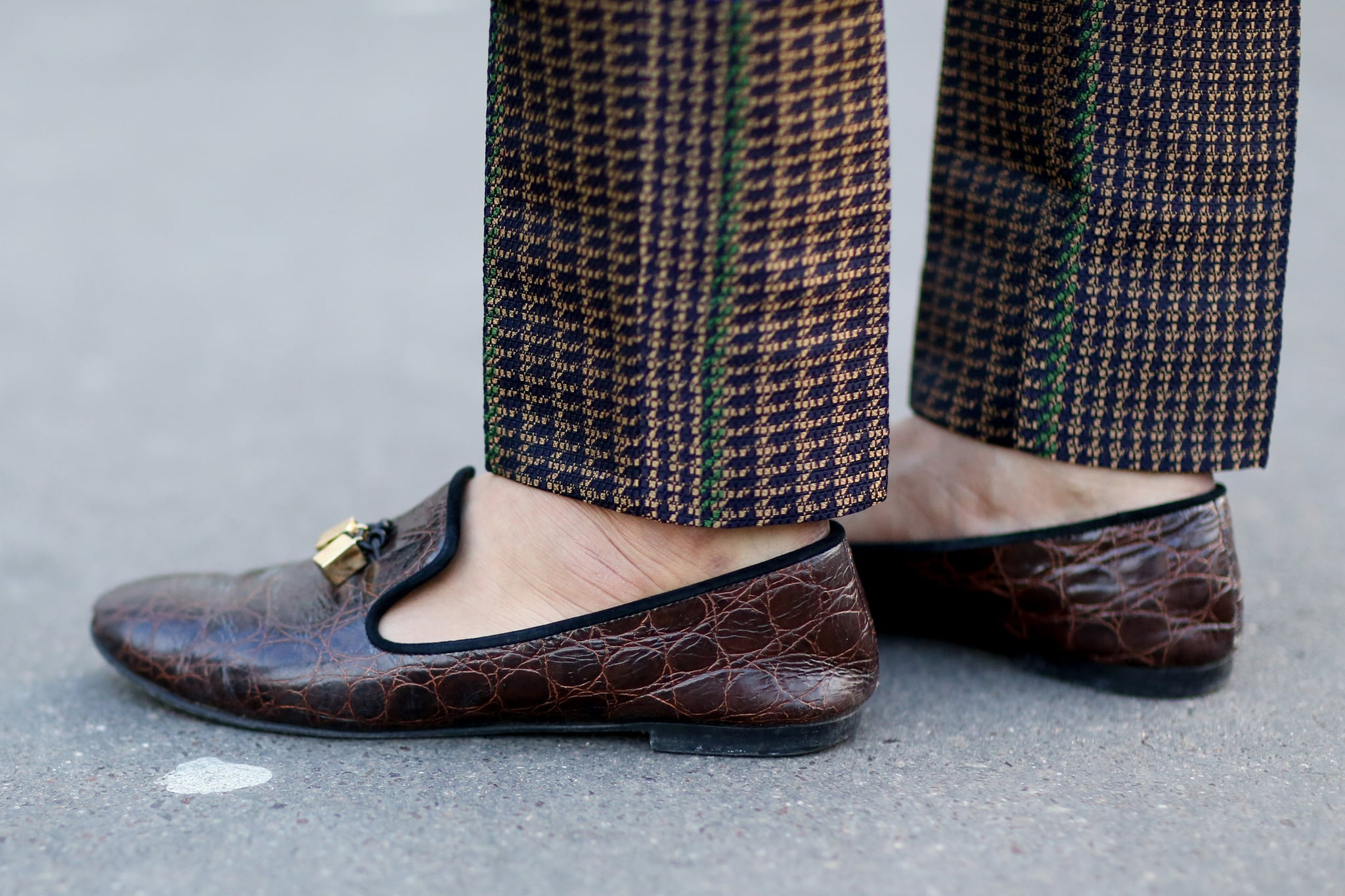 Even the guys bring out the enviable footwear at Paris Fashion Week.