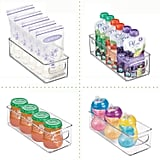mDesign Baby Food Kitchen Refrigerator Cabinet or Pantry Storage Organizer Bin