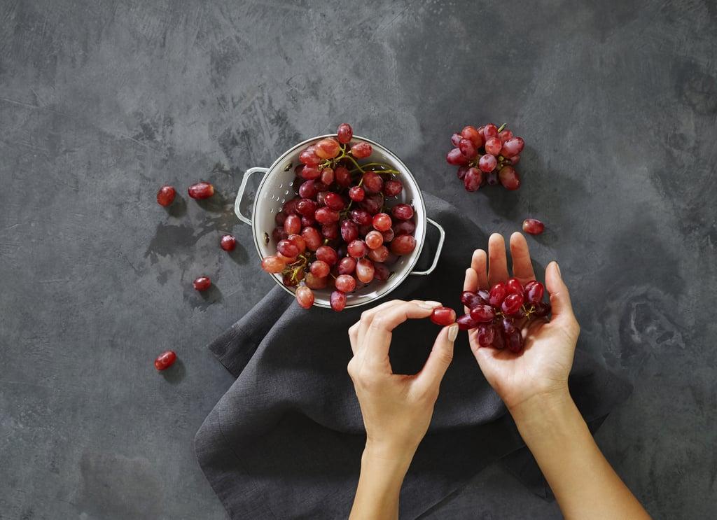 Grape skin paste for glowing skin.