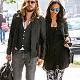 On Tuesday, Marco Perego and Zoe Saldana walked hand in hand in LA.