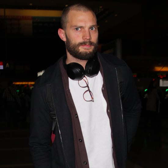 Jamie Dornan With Shaved Head Pictures Jan. 2017