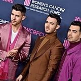 صور الأخوة جوناس في حدث صندوق أبحاث سرطان المرأة