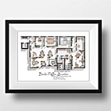 Draw House The Office US TV Show Office Floor Plan, $27.46