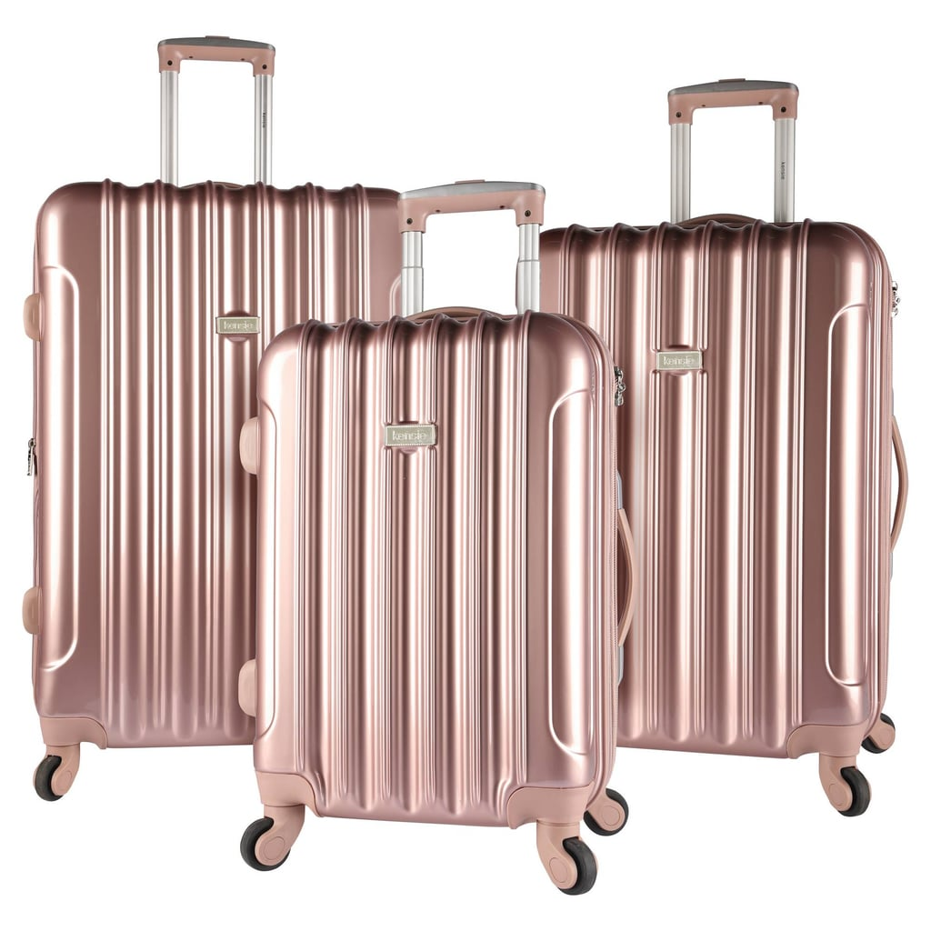 Kensie Expandable Hardside Luggage Set in Rose Gold ($200)