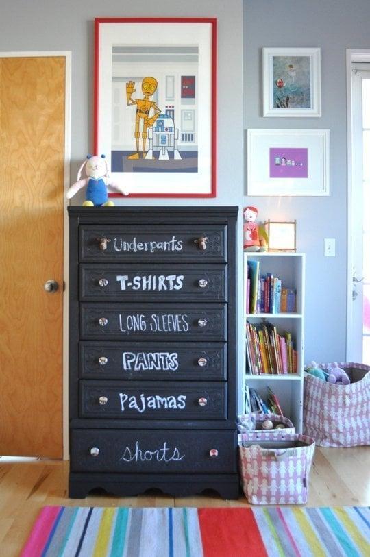 A Chalkboard Paint Dresser
