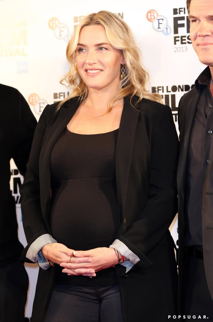 Pregnant Kate Winslet Just Can't Stop Smiling