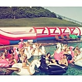 "When They Coined the Term ""Swan Goals"" With Their Epic Floaties"