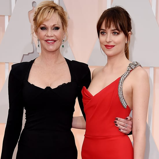 Dakota Johnson and Melanie Griffith at the Oscars 2015