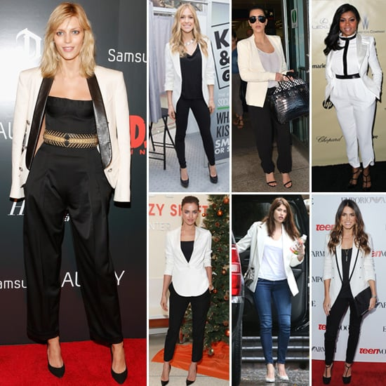 7 Days, 7 Ways: Let These Stars Show You to Wear a Winter-White Blazer