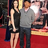 Russell Simmons and his girlfriend swung by the premiere.