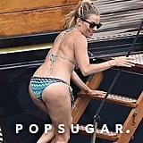 Sienna Miller Zigzag Bikini in Italy 2018