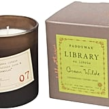 Paddywax Library Collection Jar Candle, Oscar Wilde ($23)
