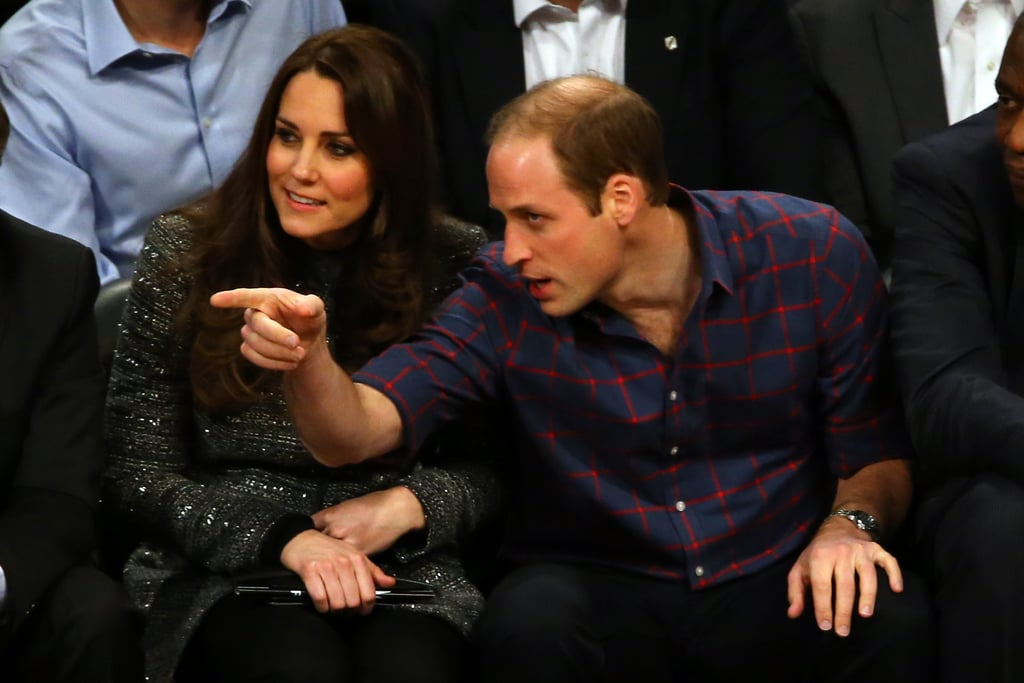 Prince William Showed the Duchess a Few Things as They Sat Courtside