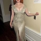 Christina Hendricks celebrated Mad Men's win for best drama at the AMC afterparty.