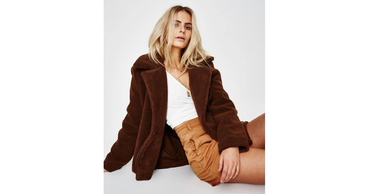 44dee73b6 Audrey Faux Fur Coat Tobacco ($129.95) | Workwear Trends Autumn ...