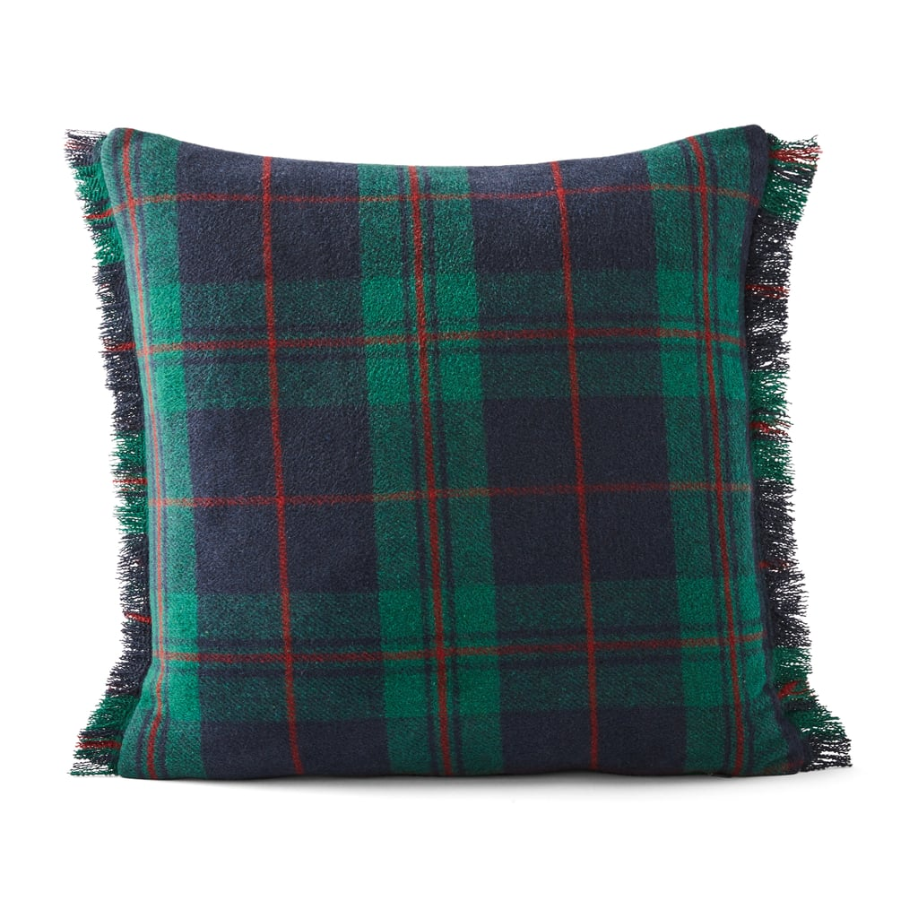 Better Homes & Gardens Feather Filled Frayed Plaid Decorative Square Throw