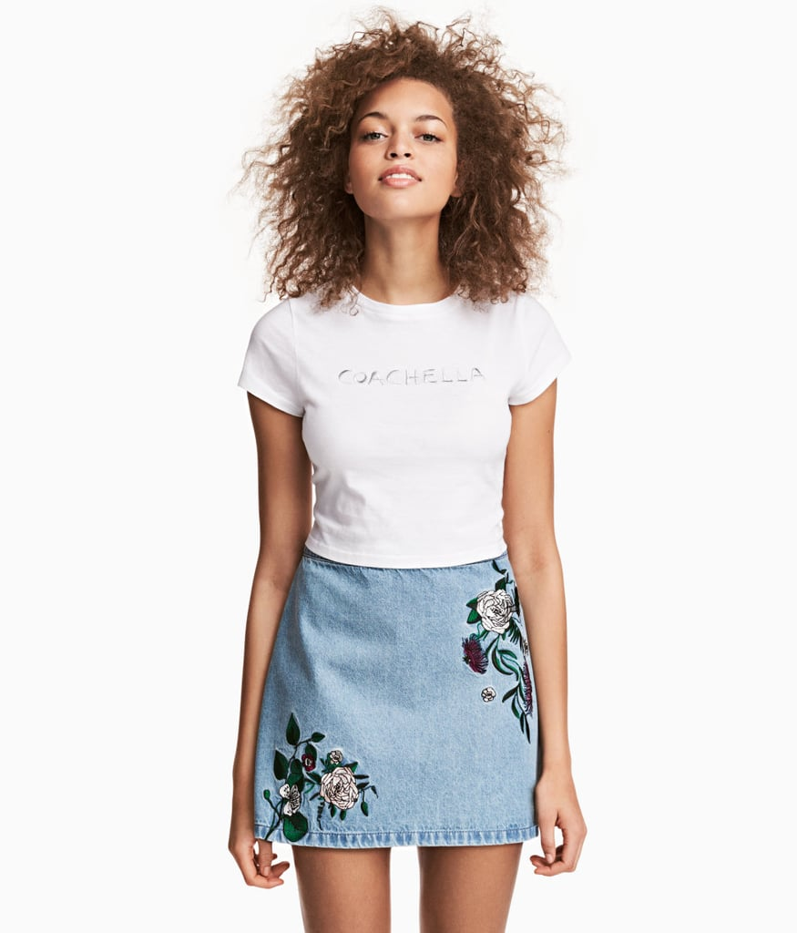 Your standard miniskirt isn't enough when H&M's Embroidered style ($35) can be paired with tees or bodysuits.