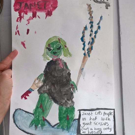 Little Girl's Drawing of Janet the Superhero Introvert