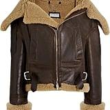 Balenciaga Swing Bombardier Oversized Shearling Jacket ($4,350)