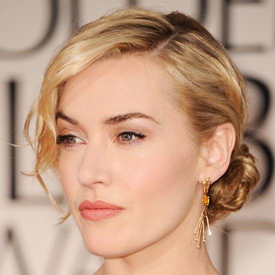 Kate Winslet's 2012 Golden Globes Hair and Makeup Look