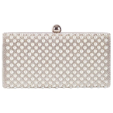 Chesca Ivory Pearl Clutch