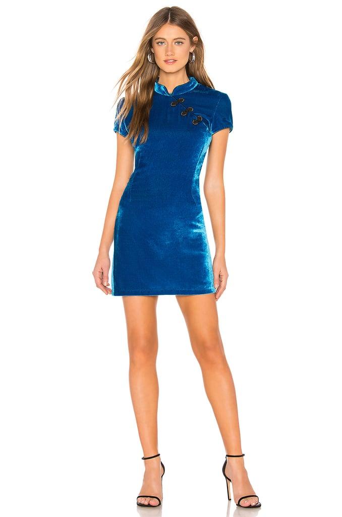 De La Vali Suki Velvet Dress