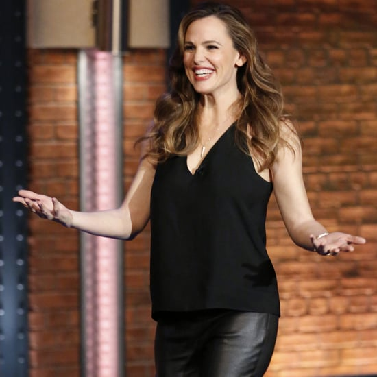 Jennifer Garner in Leather Pants March 2016