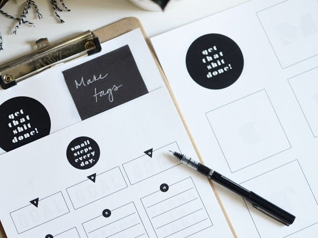16 Printable Goal Sheets to Help You Stay on Track This Year