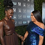 Lupita Nyong'o and Niecy Nash at the 2020 Critics' Choice Awards