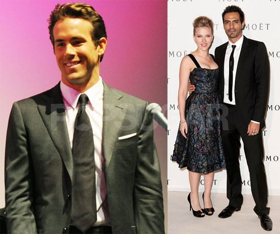 Pictures of Ryan Reynolds in Toronto and Scarlett Johansson in France
