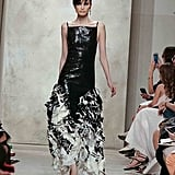 Feathers provided movement that belies the notion of heavy formal gowns.
