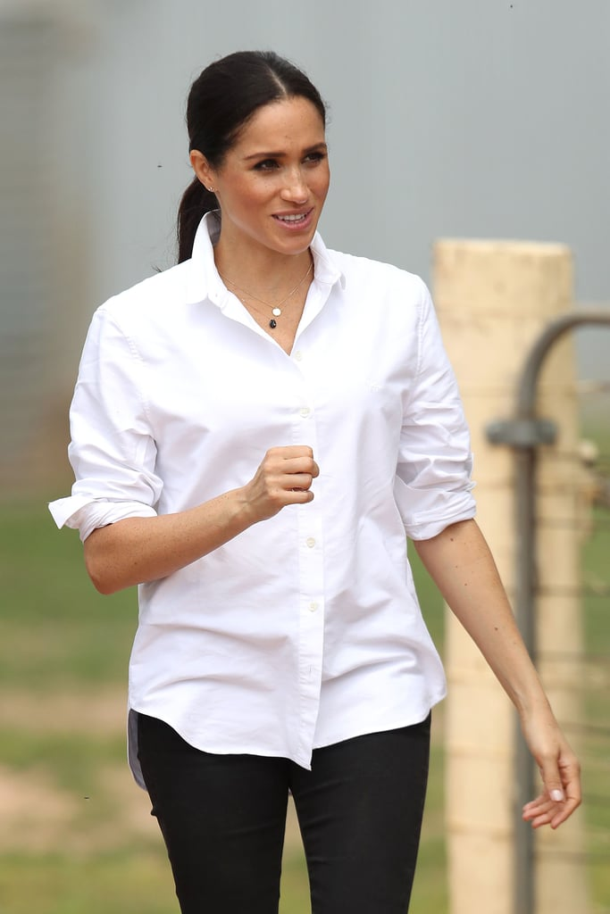 Meghan Markle Natalie Marie Initial Necklace and Earrings